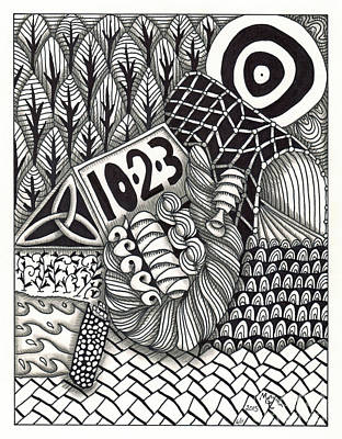 Asl Drawing - Zentangle Art T Hand by Martha Cuzzolino