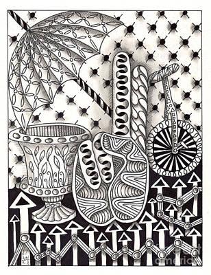 Asl Drawing - Zentangle Art U Hand by Martha Cuzzolino