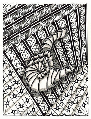 Asl Drawing - Zentangle Art X Hand by Martha Cuzzolino