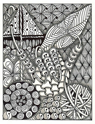 Asl Drawing - Zentangle Art Y Hand by Martha Cuzzolino