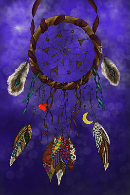 Painting - Zentangle Dreamcatcher by Becky Herrera