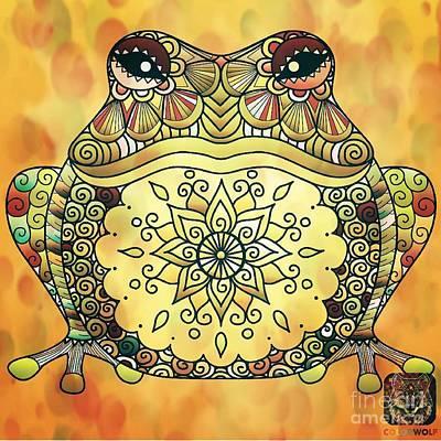 Mixed Media - Zentangle Frog by Maria Urso