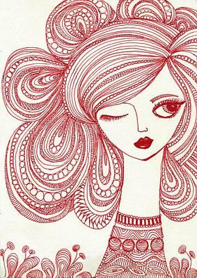 Zentangle Girl Original