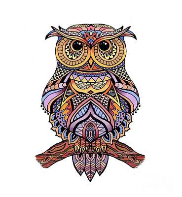 Zentangle Owl Art Print