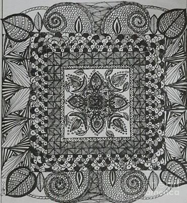 Drawing - Zentangle by Usha Rai