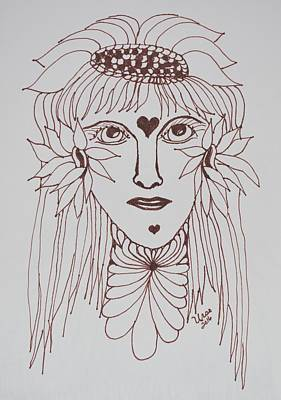 Drawing - Zentangle Woman by Maria Urso