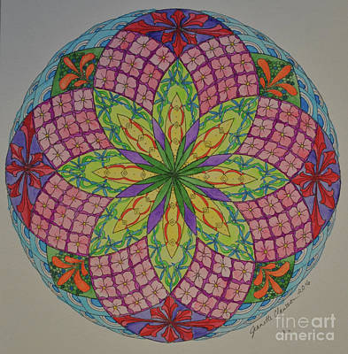 Wall Art - Drawing - Zentangled Torus Mandala by Jeanette Clawson
