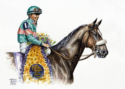 Jockeys Painting - Zenyatta by Thomas Allen Pauly