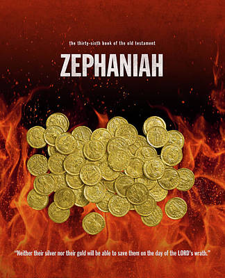 Zephaniah Books Of The Bible Series Old Testament Minimal Poster Art Number 36 Art Print