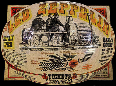 Music Digital Art - Zeppelin Express Work B by David Lee Thompson