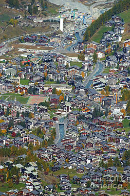 Photograph - Zermatt From Klein Matterhorn by Stan and Anne Foster