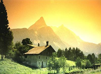 Swiss Mixed Media - Zermatt Sunset   William Kaluta Artist by William Kaluta