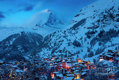 Photograph - Zermatt With Matterhorn by Brian Jannsen