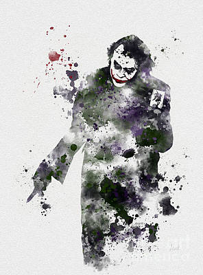 Heath Ledger Wall Art - Mixed Media - Zero Empathy by Rebecca Jenkins