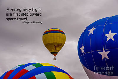 Photograph - Zero Gravity Flight by Grace Grogan