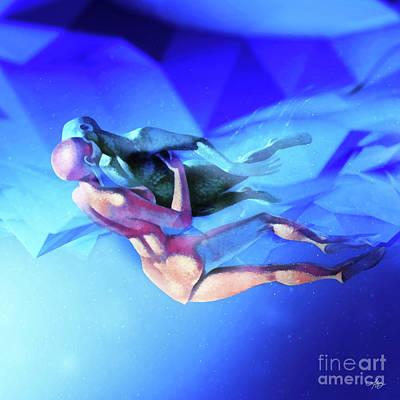 Digital Art - Zero Gravity by Mo T