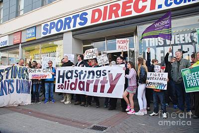 Photograph - Zero Hours Contract Protest At Hastings by David Fowler