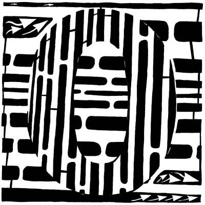 Optical Illusion Maze Drawing - Zero Maze by Yonatan Frimer Maze Artist