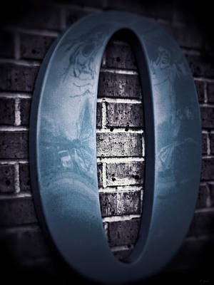 Photograph - Zero Sea Blue Gray On Brick by Tony Grider