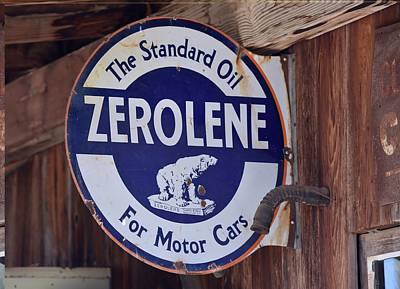 Photograph - Zerolene Standard Oil For Motor Cars Sign by rd Erickson