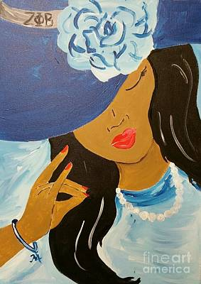 Painting - Zeta Lady by The Pour Artist NJ