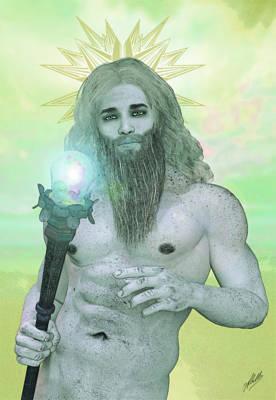 Zeus Mixed Media - Zeus King Of The Gods by Joaquin Abella
