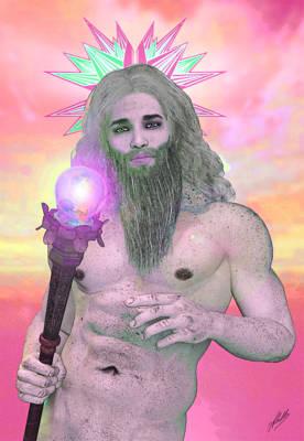 Zeus Mixed Media - Zeus Seen By Ganymede by Quim Abella