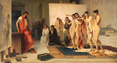 Ponders Painting - Zeuxis Choosing Five Young Women by Pietro Michis