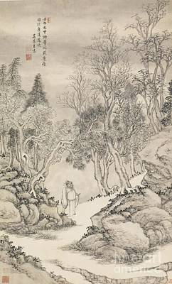 18th Century Painting - Zhongkui by Celestial Images