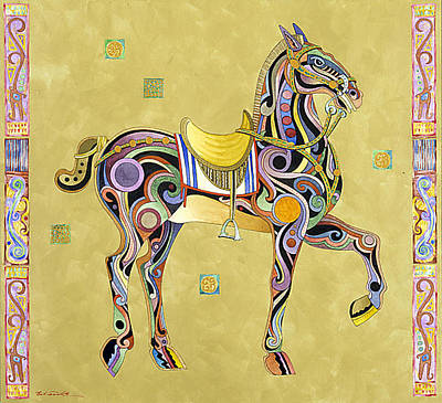 Abstract Realism Painting - Zhou Dynasty Horse by Bob Coonts