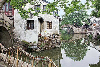 Photograph - Zhouzhuang - A Watertown by Marla Craven