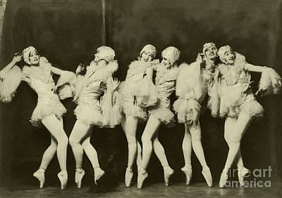 Photograph - Ziegfeld Model Beautiful Ballet Dancers By Alfred Cheney Johnston by R Muirhead Art
