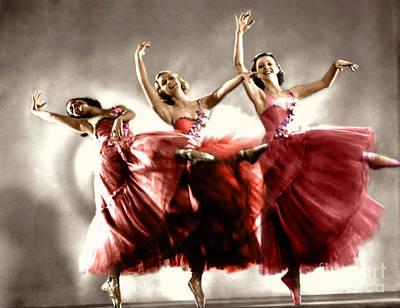 Photograph - Ziegfeld Model Dancers By Alfred Cheney Johnston by R Muirhead Art