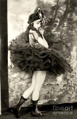 Photograph - Ziegfeld Model In Ballet Dress by R Muirhead Art