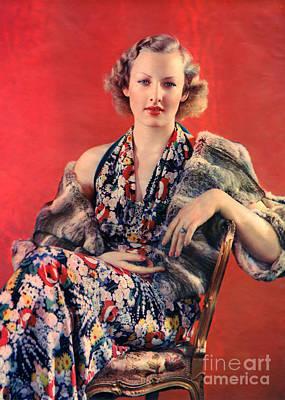 Photograph - Ziegfeld Model by R Muirhead Art