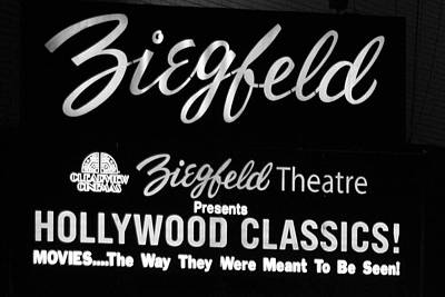 Photograph - Ziegfeld Theatre 01 Bw - New York by Pamela Critchlow