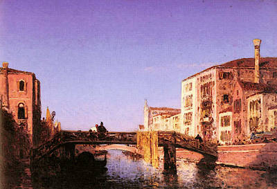 Digital Art - Ziem Felix Le Pont De Bois A Venise by Ziem