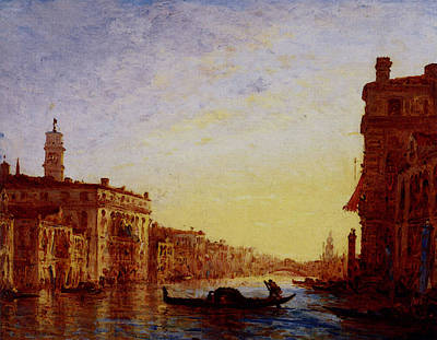 Digital Art - Ziem Felix The Grand Canal by Ziem