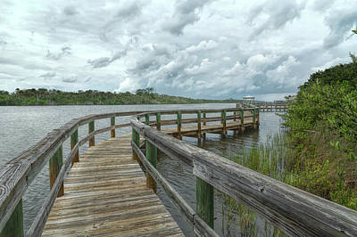 Photograph - Zig Zag Boardwalk by John M Bailey