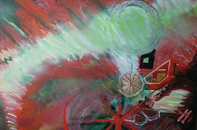 Zig-zag Explosion Art Print by Anne-Elizabeth Whiteway