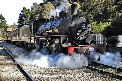 Photograph - Zig Zag Railway Lithgow New South Wales Australia Steam Engine 1072 by David Iori