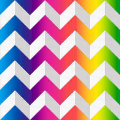 Digital Art - Zig Zag Spectrum by Chuck Staley