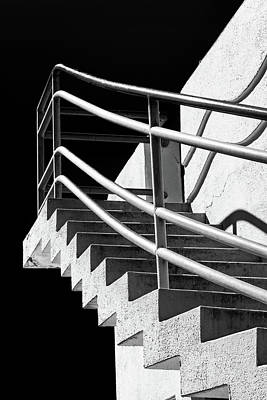 Photograph - Zig Zag Stairs San Francisco Black And White by David Smith