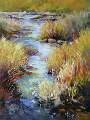 Painting - Zig Zag Stream by Rae Andrews