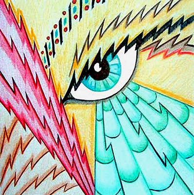 Drawing - Ziggurat Eye by Tara Hutton
