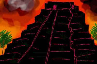 Africa Painting - Ziggurat Xhocolatec by Paul Sutcliffe