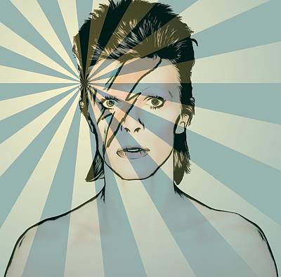 Music Mixed Media - Ziggy by Dan Sproul
