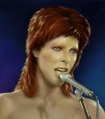 Digital Art - Ziggy Stardust by Dana Scholle