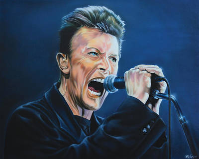 Painting - David Bowie by Hay Rouleaux