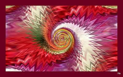 Digital Art - Zigzag-like World by Halina Nechyporuk